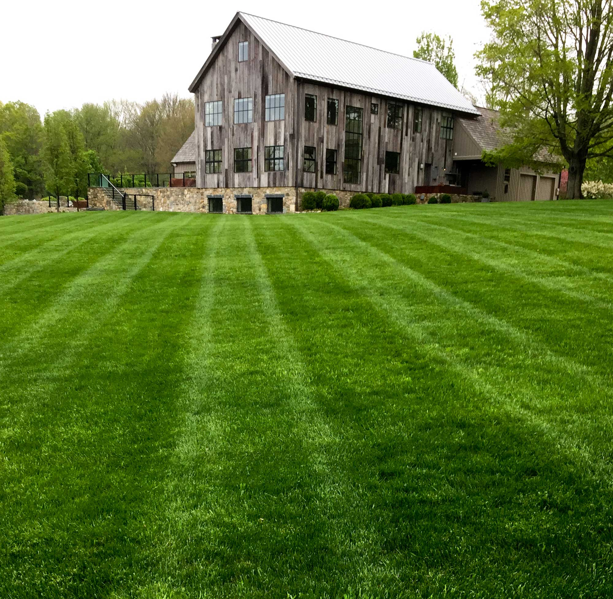 Careful lawn mowing to avoid burning in New Preston